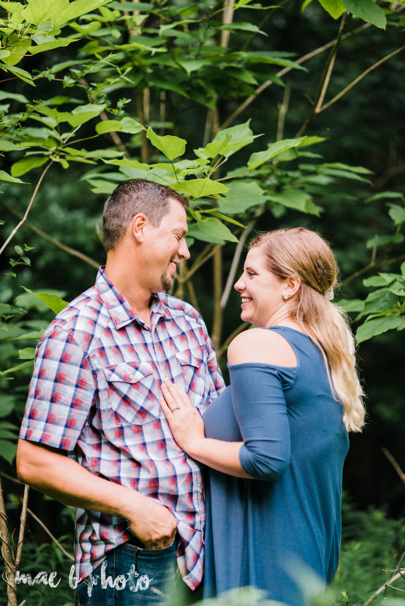 becca and rich's woodsy summer engagement session at ford nature center in mill creek park in youngstown ohio photographed by cleveland wedding photographer mae b photo-50.jpg