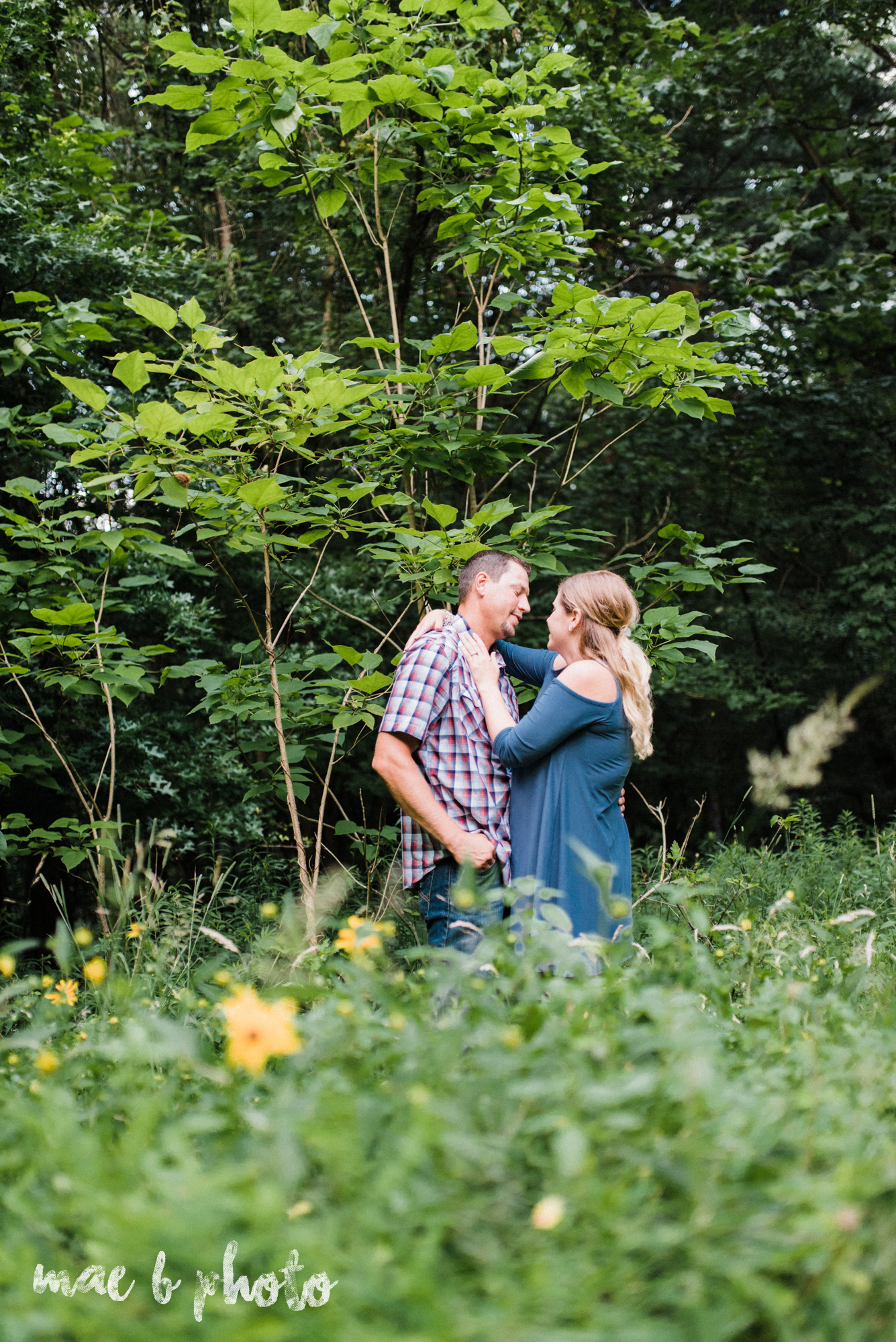 becca and rich's woodsy summer engagement session at ford nature center in mill creek park in youngstown ohio photographed by cleveland wedding photographer mae b photo-52.jpg