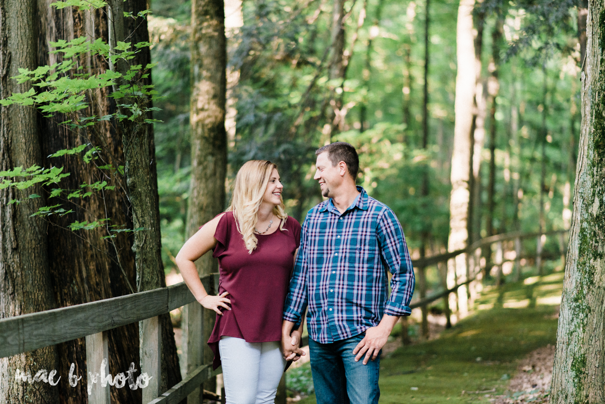 becca and rich's woodsy summer engagement session at ford nature center in mill creek park in youngstown ohio photographed by cleveland wedding photographer mae b photo-1.jpg