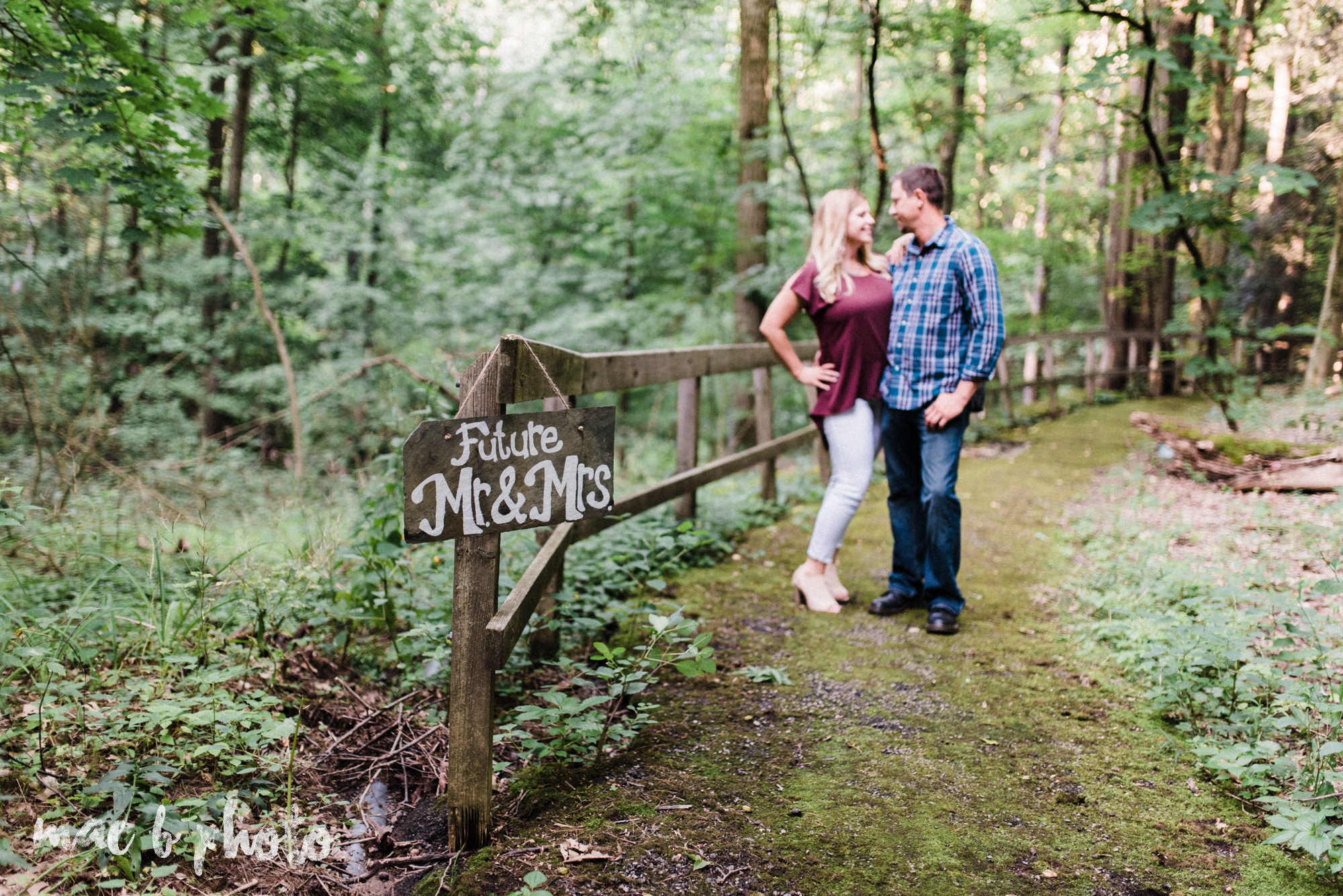 becca and rich's woodsy summer engagement session at ford nature center in mill creek park in youngstown ohio photographed by cleveland wedding photographer mae b photo-7.jpg