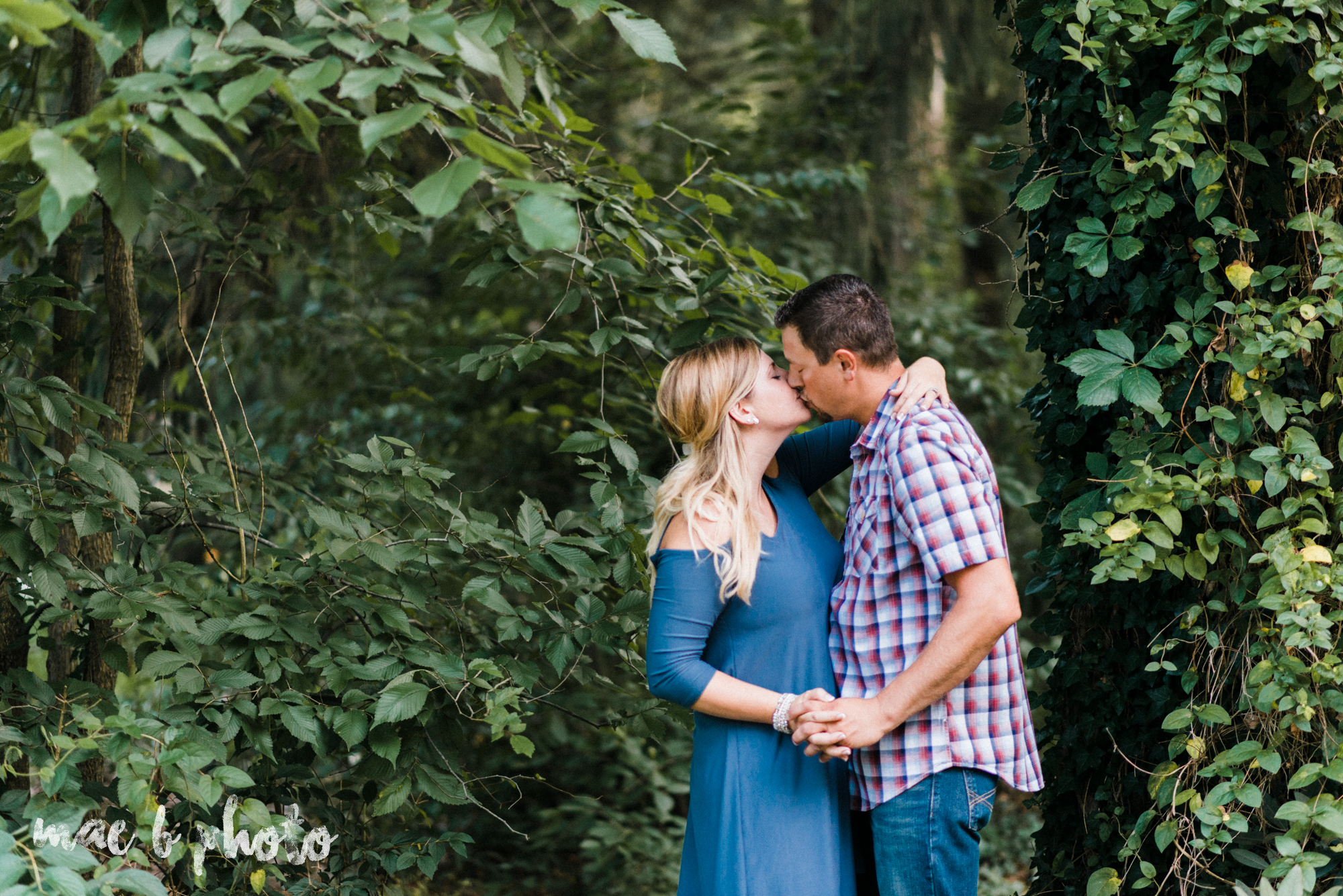becca and rich's woodsy summer engagement session at ford nature center in mill creek park in youngstown ohio photographed by cleveland wedding photographer mae b photo-19.jpg
