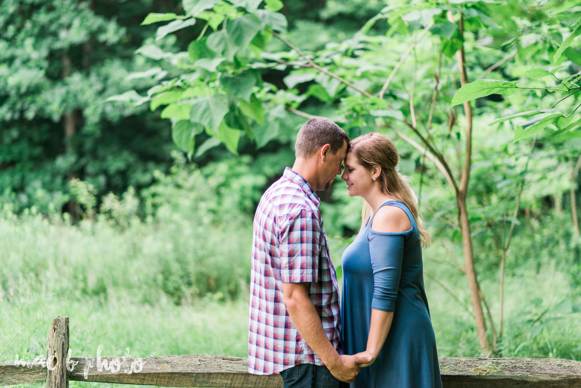 becca and rich's woodsy summer engagement session at ford nature center in mill creek park in youngstown ohio photographed by cleveland wedding photographer mae b photo-41.jpg