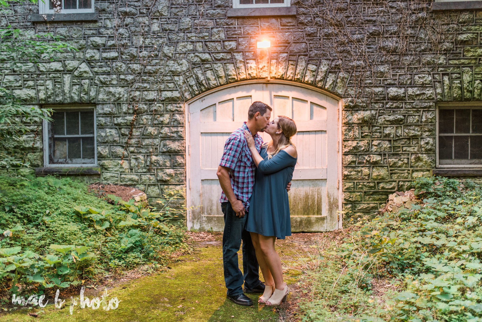 becca and rich's woodsy summer engagement session at ford nature center in mill creek park in youngstown ohio photographed by cleveland wedding photographer mae b photo-37.jpg
