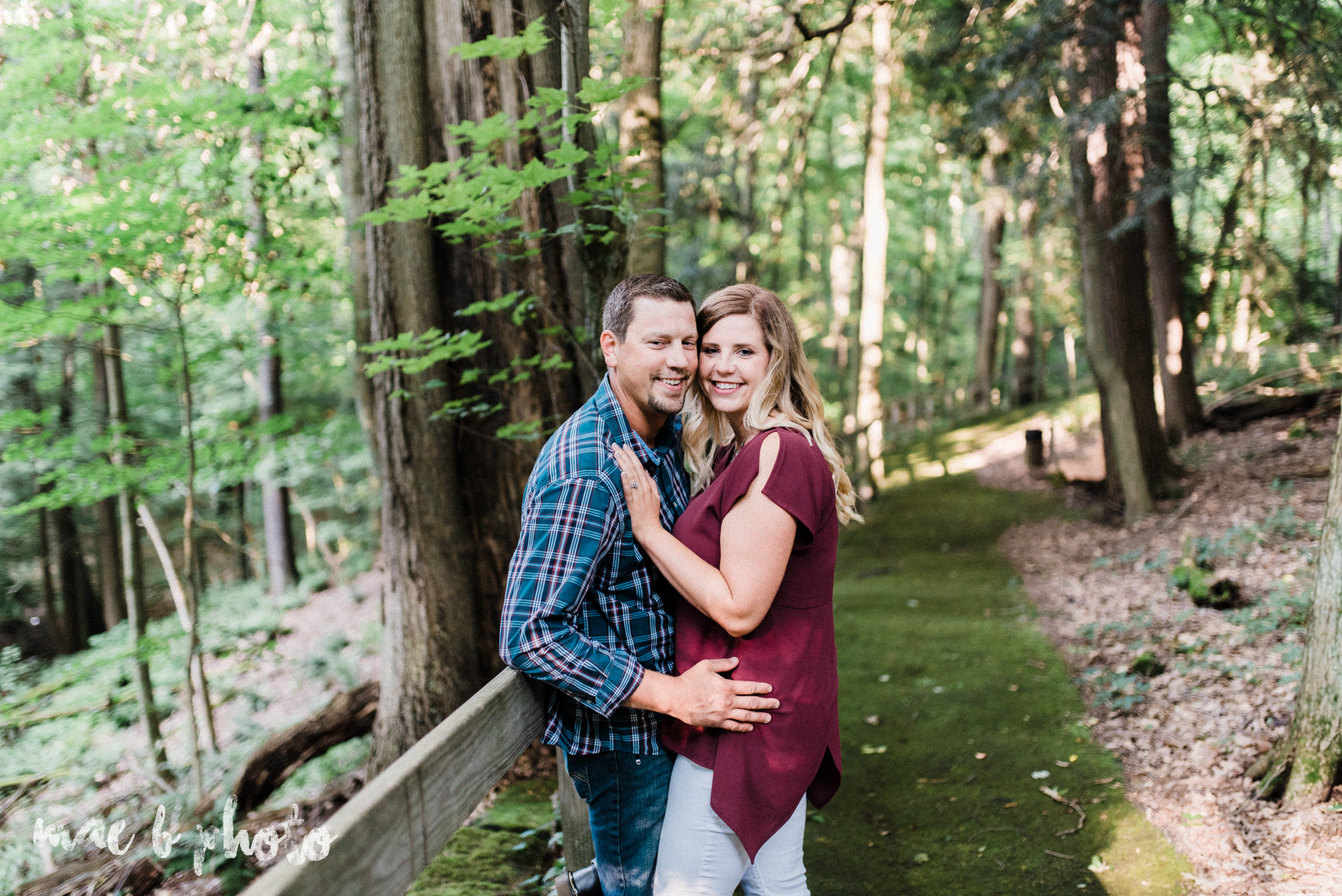 becca and rich's woodsy summer engagement session at ford nature center in mill creek park in youngstown ohio photographed by cleveland wedding photographer mae b photo-4.jpg