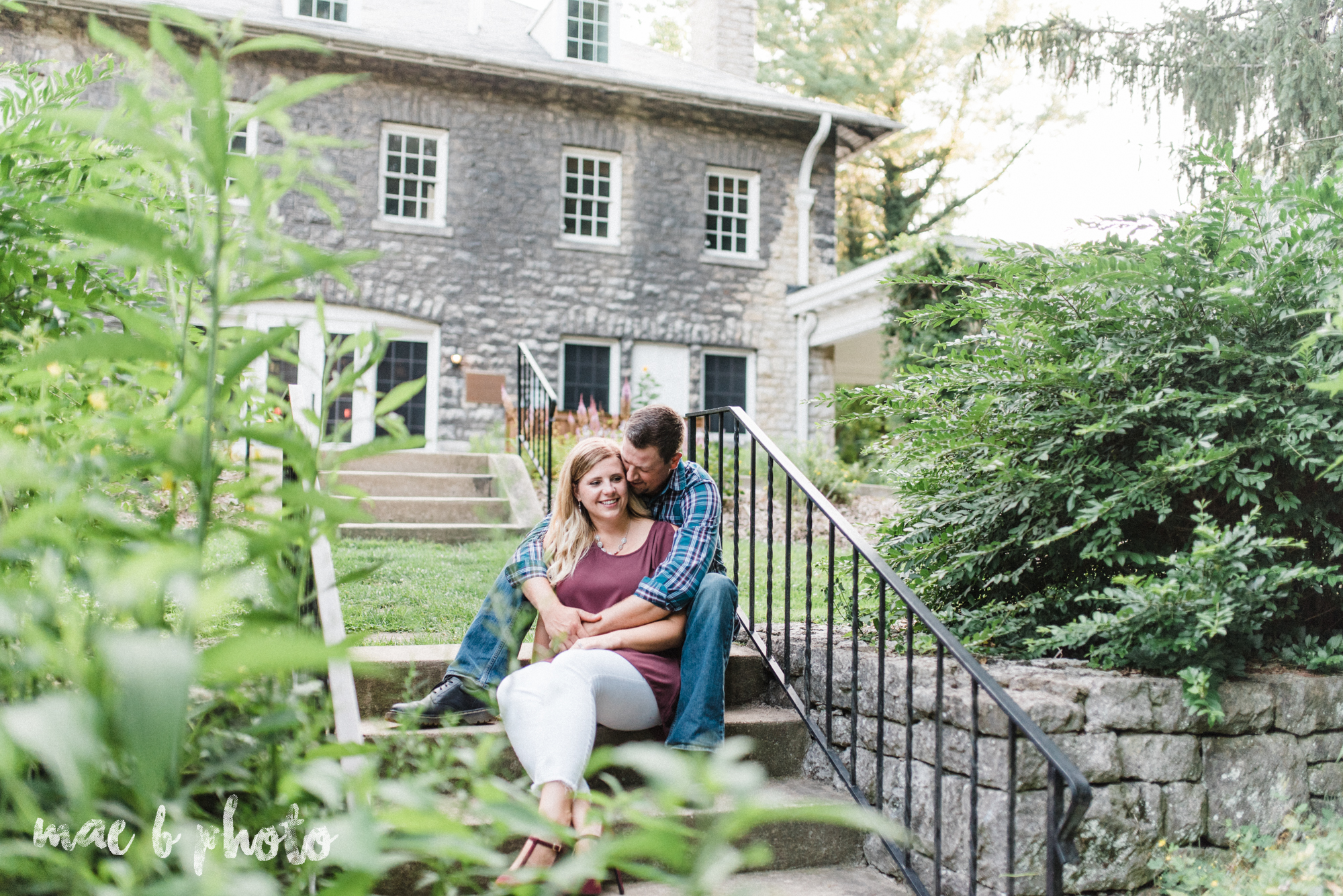 becca and rich's woodsy summer engagement session at ford nature center in mill creek park in youngstown ohio photographed by cleveland wedding photographer mae b photo-14.jpg