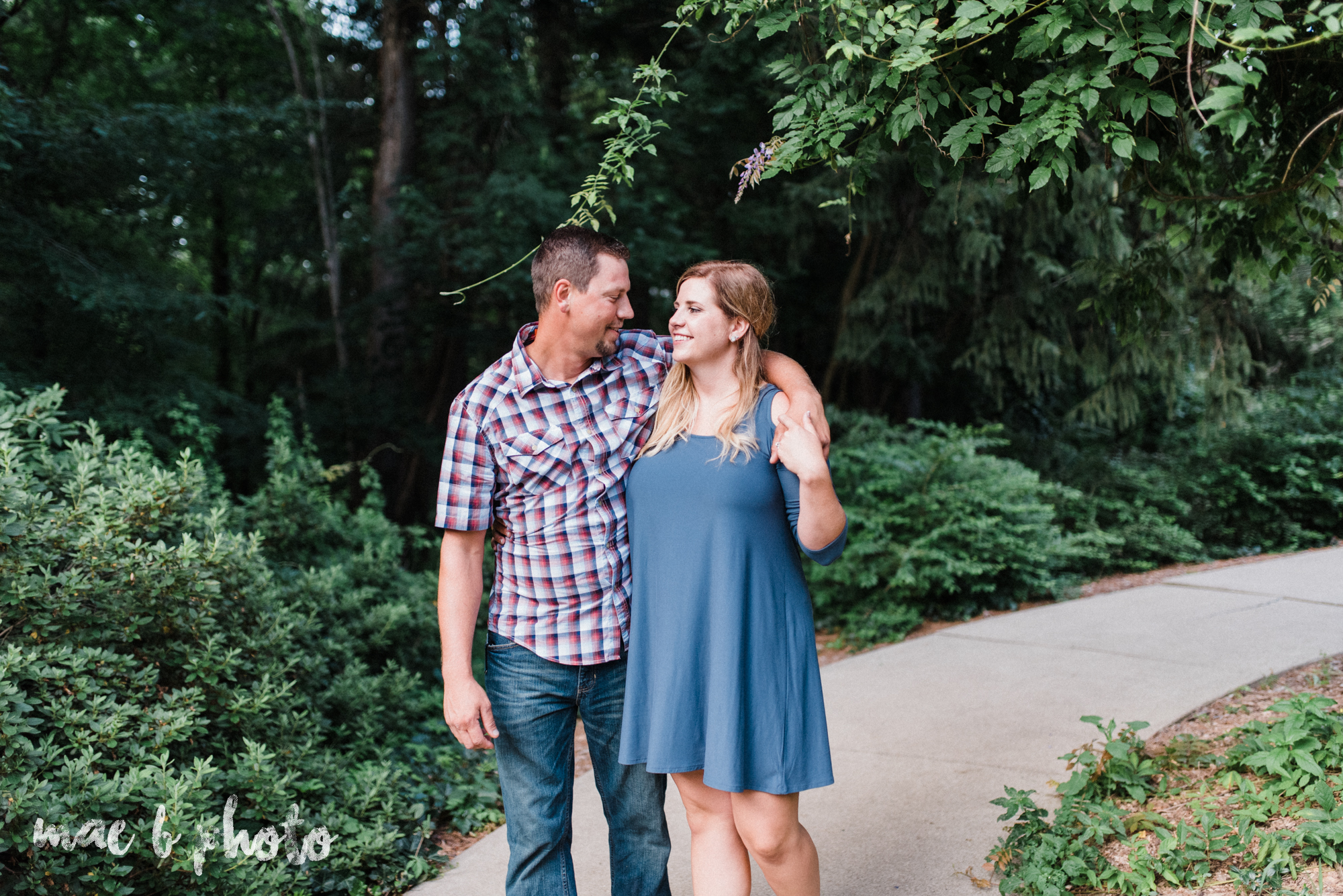 becca and rich's woodsy summer engagement session at ford nature center in mill creek park in youngstown ohio photographed by cleveland wedding photographer mae b photo-26.jpg