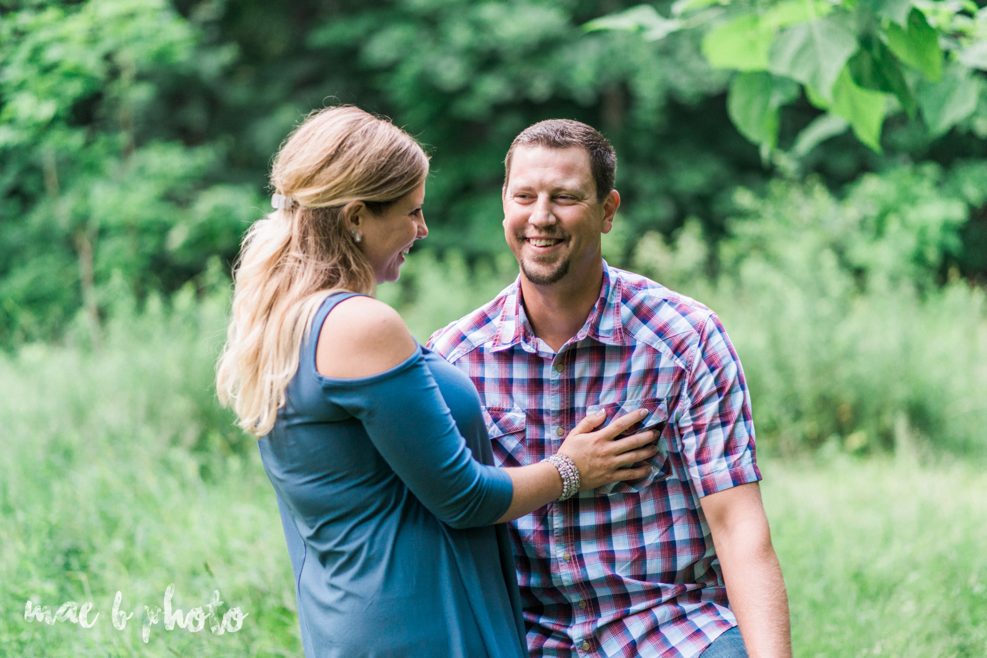 becca and rich's woodsy summer engagement session at ford nature center in mill creek park in youngstown ohio photographed by cleveland wedding photographer mae b photo-44.jpg