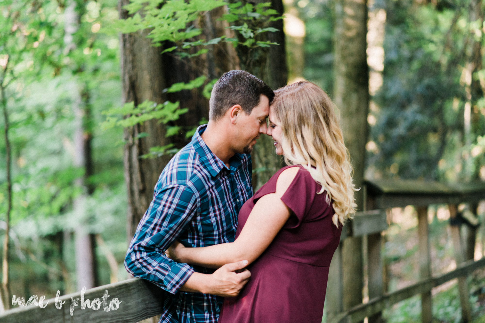 becca and rich's woodsy summer engagement session at ford nature center in mill creek park in youngstown ohio photographed by cleveland wedding photographer mae b photo-3.jpg