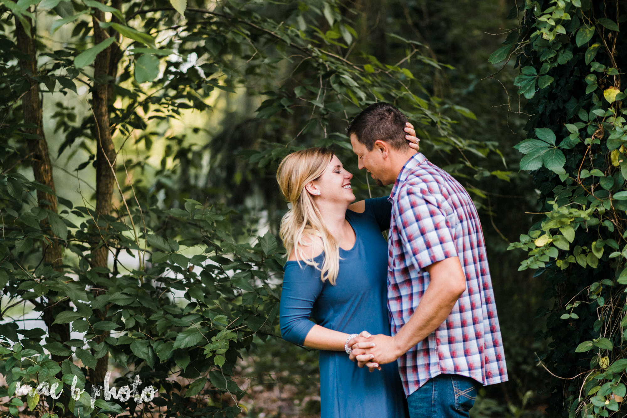 becca and rich's woodsy summer engagement session at ford nature center in mill creek park in youngstown ohio photographed by cleveland wedding photographer mae b photo-21.jpg
