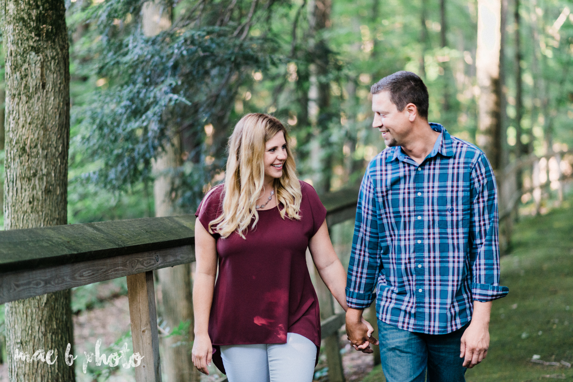 becca and rich's woodsy summer engagement session at ford nature center in mill creek park in youngstown ohio photographed by cleveland wedding photographer mae b photo-6.jpg