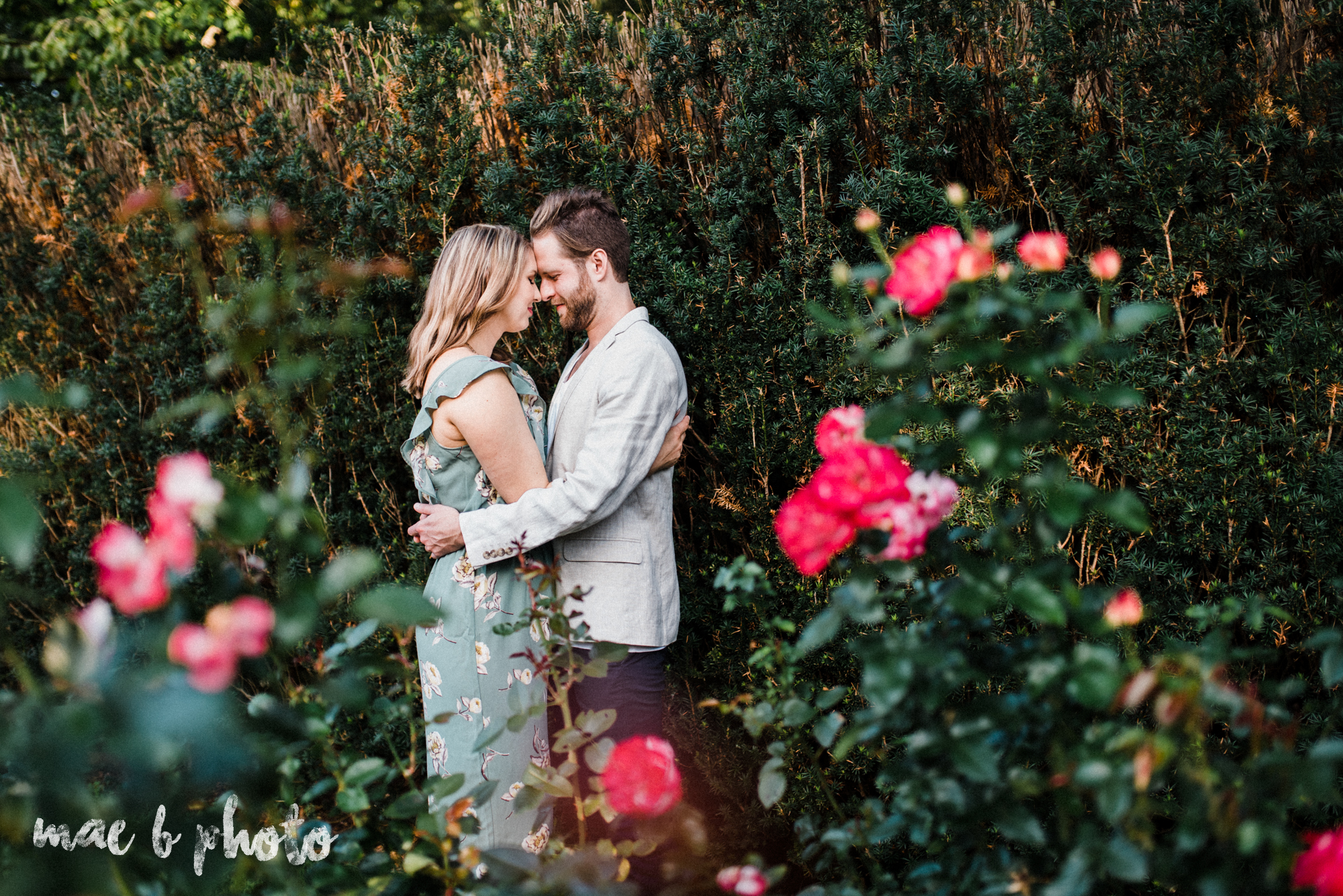 lauren and steve's summer engagement session at the rose gardens and lanterman's mill in mill creek park in youngstown ohio photographed by youngstown wedding photographer mae b photo-5.jpg