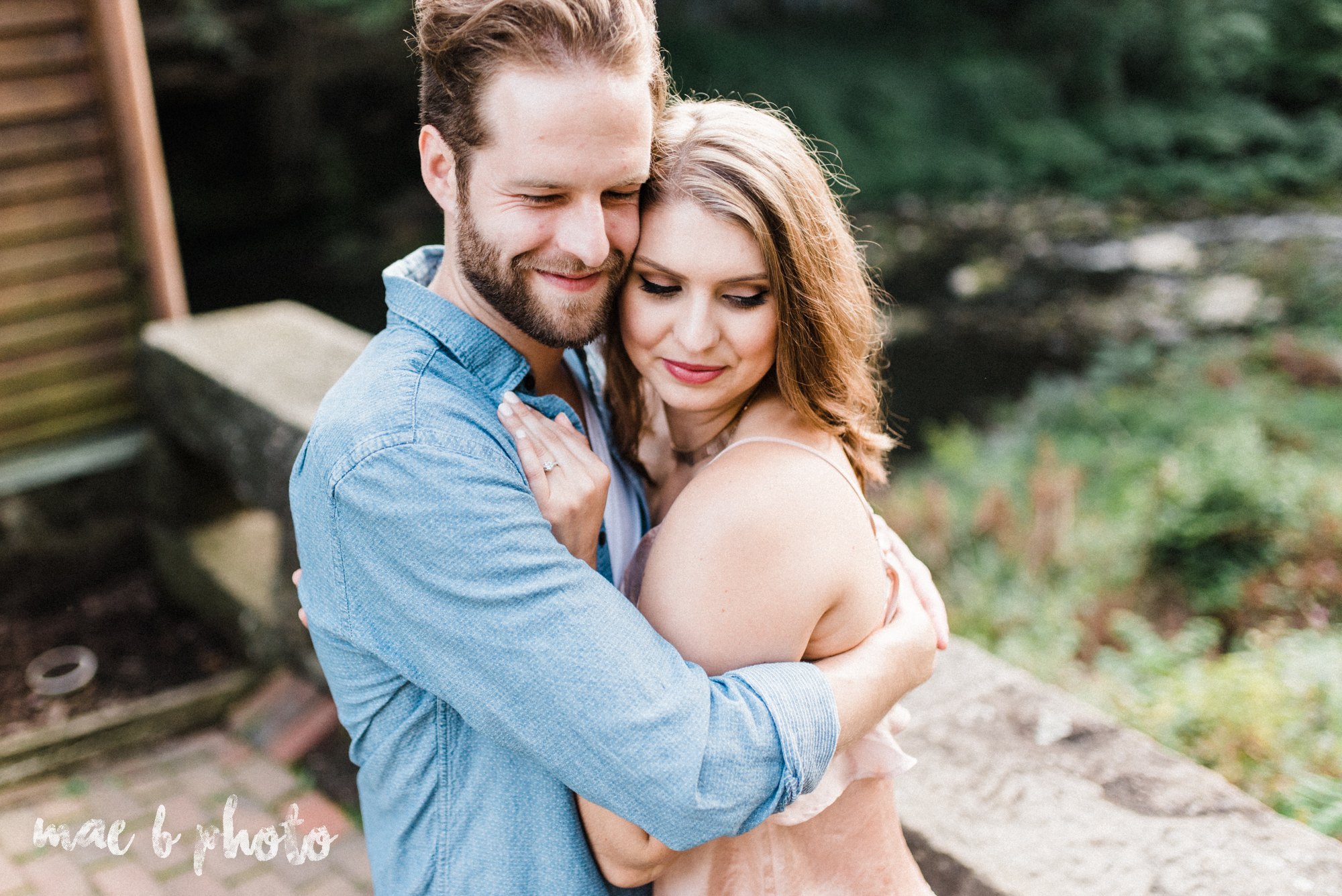lauren and steve's summer engagement session at the rose gardens and lanterman's mill in mill creek park in youngstown ohio photographed by youngstown wedding photographer mae b photo-28.jpg