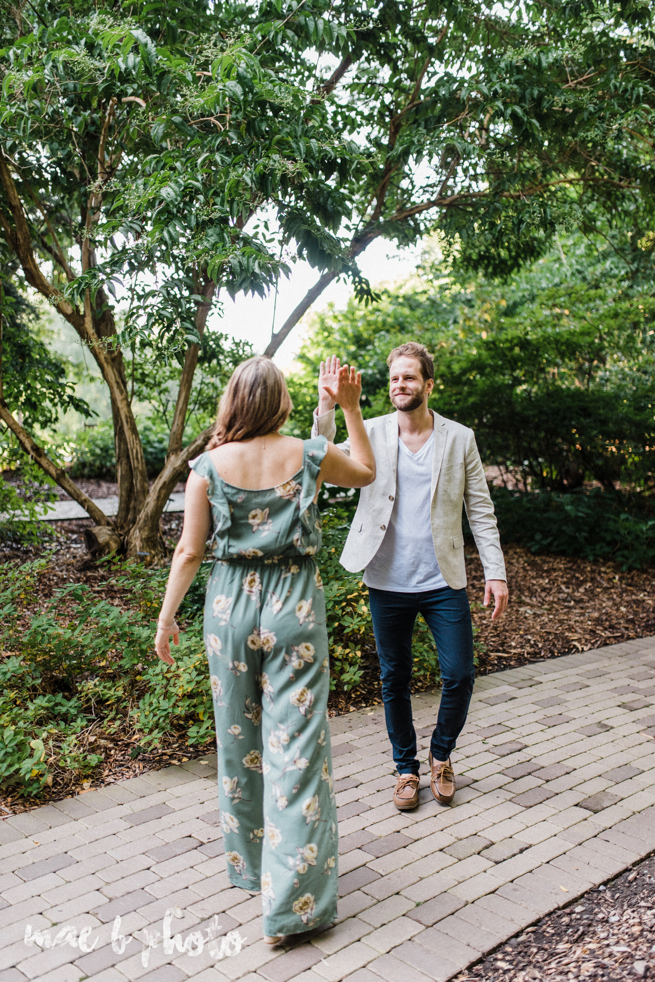 lauren and steve's summer engagement session at the rose gardens and lanterman's mill in mill creek park in youngstown ohio photographed by youngstown wedding photographer mae b photo-20.jpg