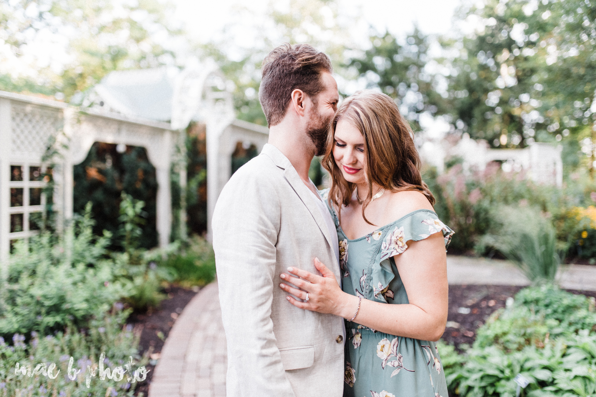 lauren and steve's summer engagement session at the rose gardens and lanterman's mill in mill creek park in youngstown ohio photographed by youngstown wedding photographer mae b photo-2.jpg