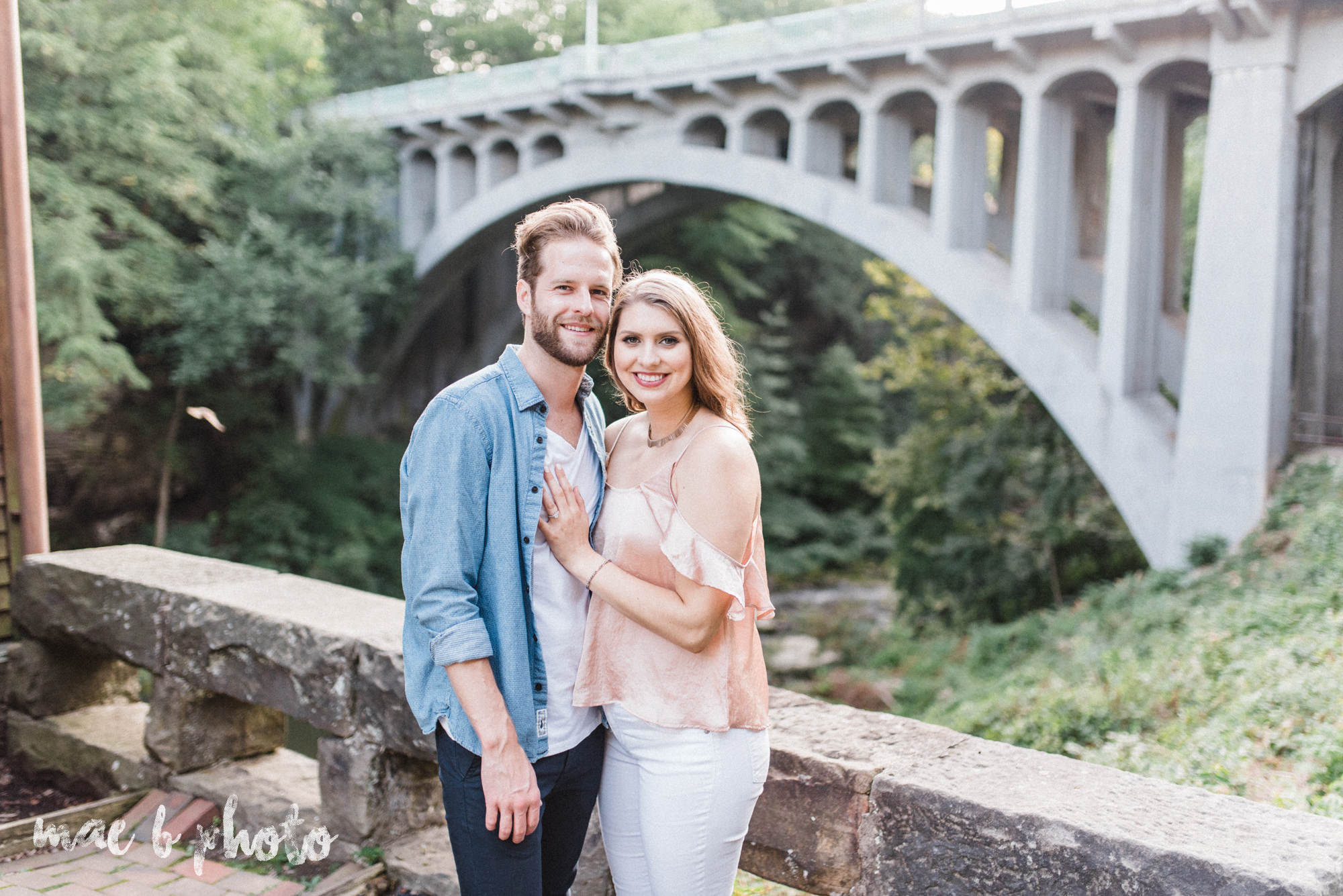 lauren and steve's summer engagement session at the rose gardens and lanterman's mill in mill creek park in youngstown ohio photographed by youngstown wedding photographer mae b photo-25.jpg