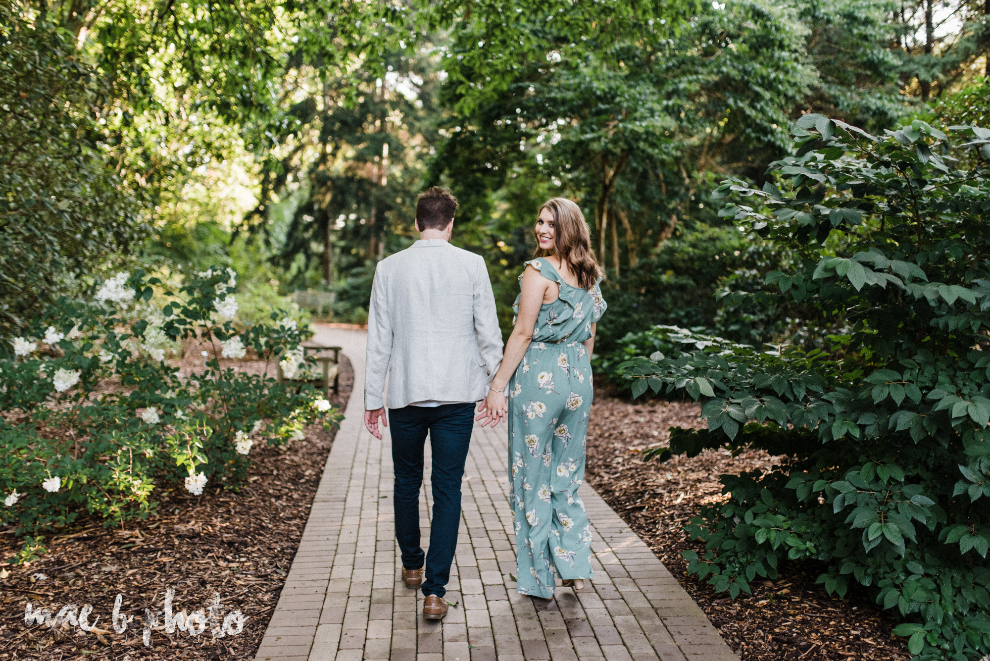 lauren and steve's summer engagement session at the rose gardens and lanterman's mill in mill creek park in youngstown ohio photographed by youngstown wedding photographer mae b photo-13.jpg