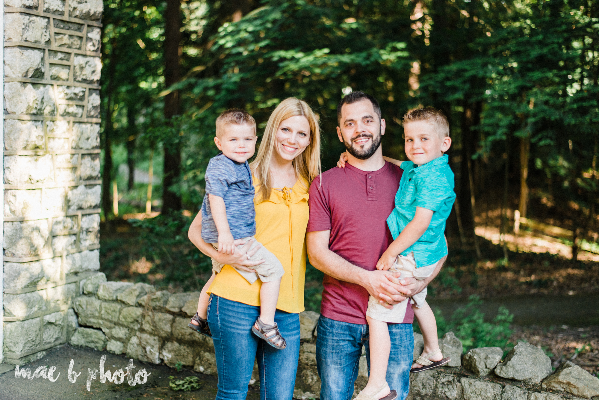 TJ and Melissa Klopta Family session at ford nature center in mill creek park in youngstown ohio photographed by youngstown wedding photographer mae b photo-1.jpg