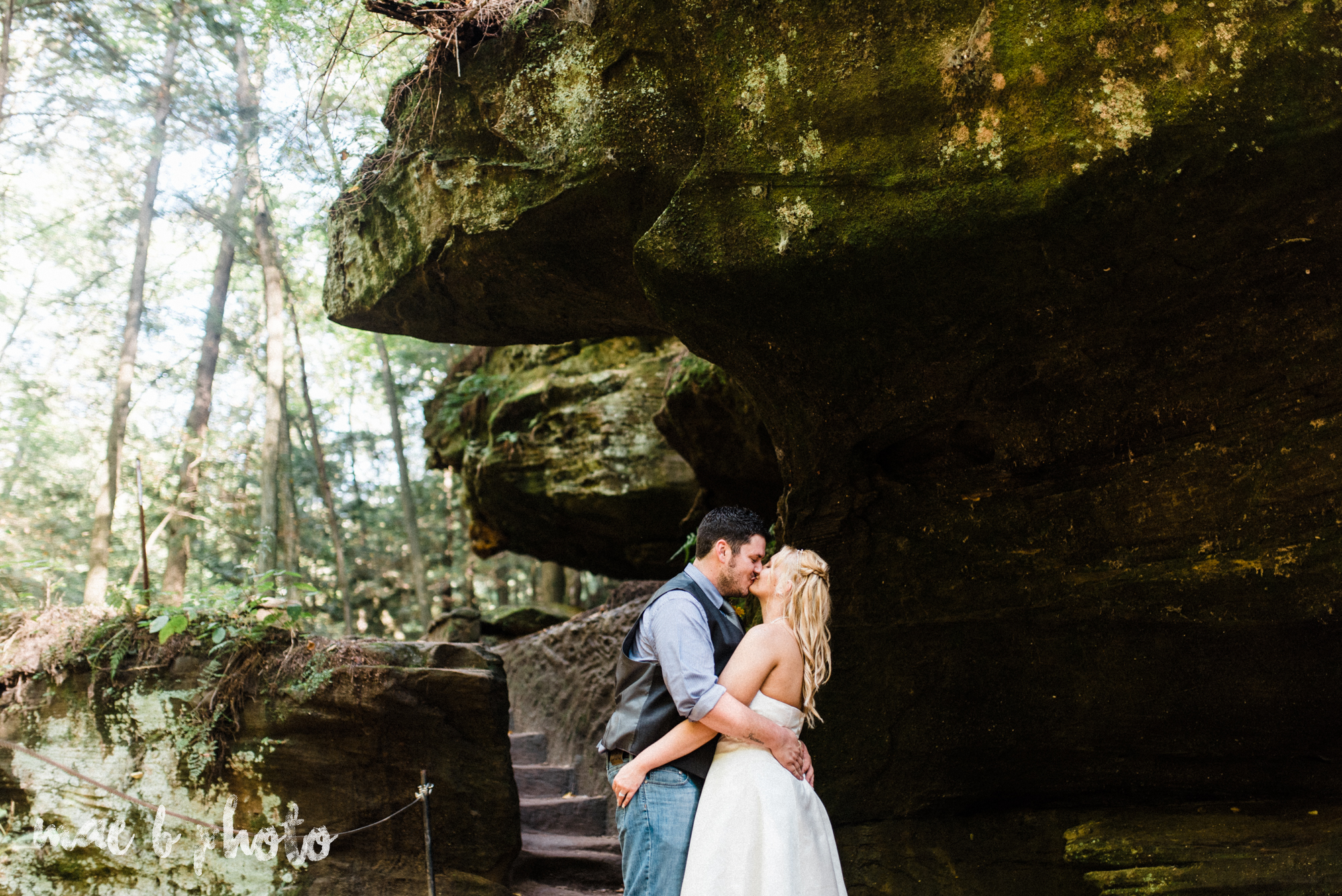 bobbi and pat's intimate fall cabin elopement in hocking hills old man's cave and rock house in logan ohio photographed by youngstown wedding photographer mae b photo-69.jpg