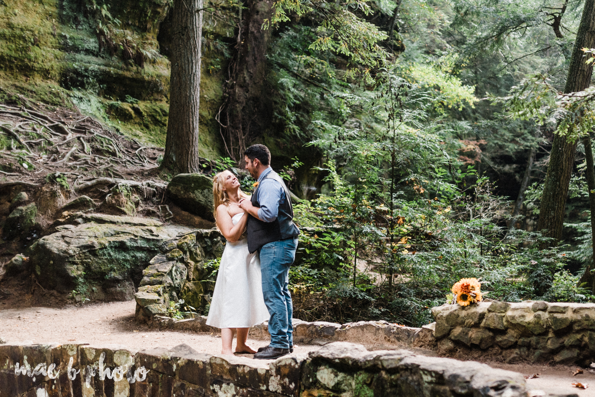 bobbi and pat's intimate fall cabin elopement in hocking hills old man's cave and rock house in logan ohio photographed by youngstown wedding photographer mae b photo-60.jpg