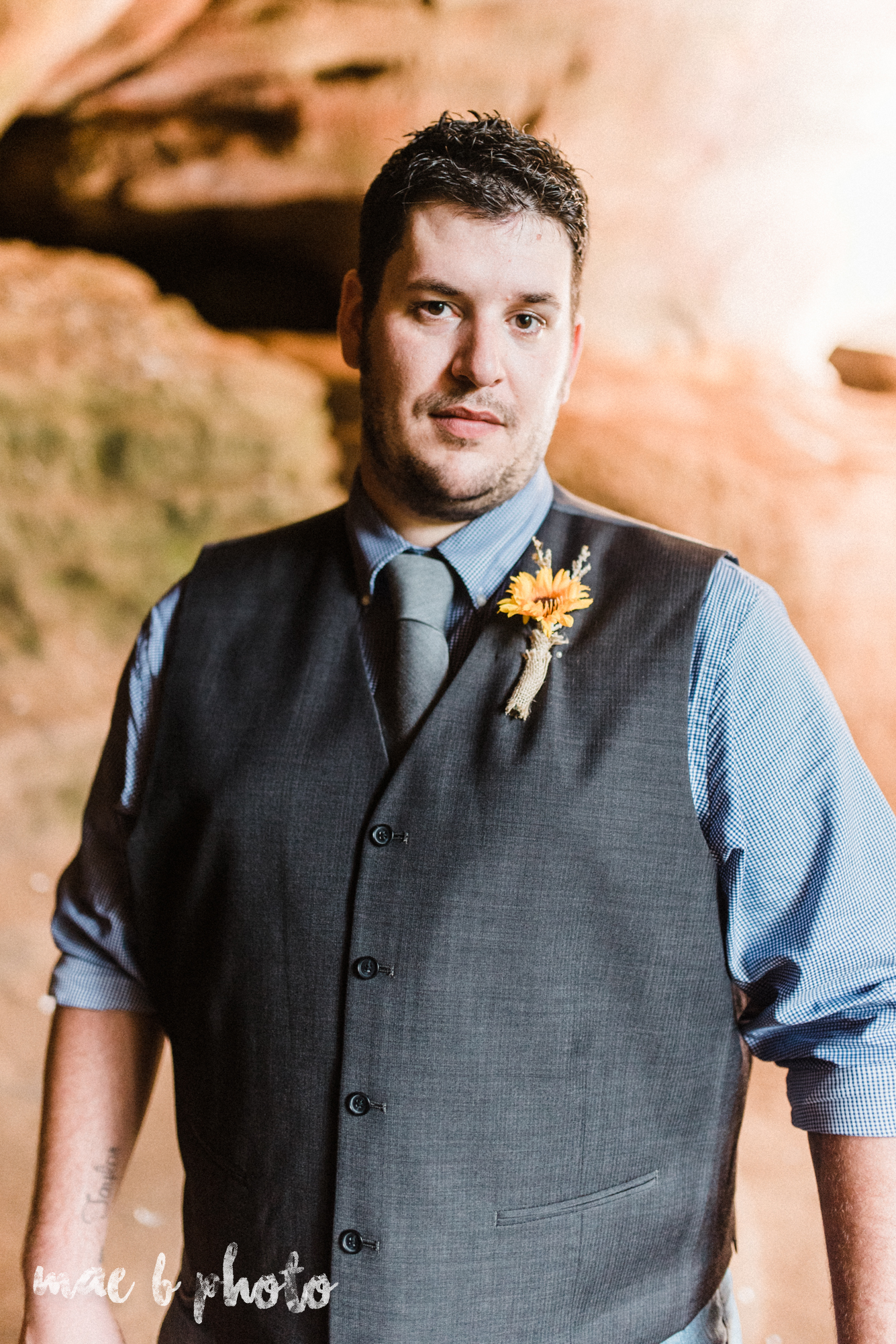 bobbi and pat's intimate fall cabin elopement in hocking hills old man's cave and rock house in logan ohio photographed by youngstown wedding photographer mae b photo-96.jpg