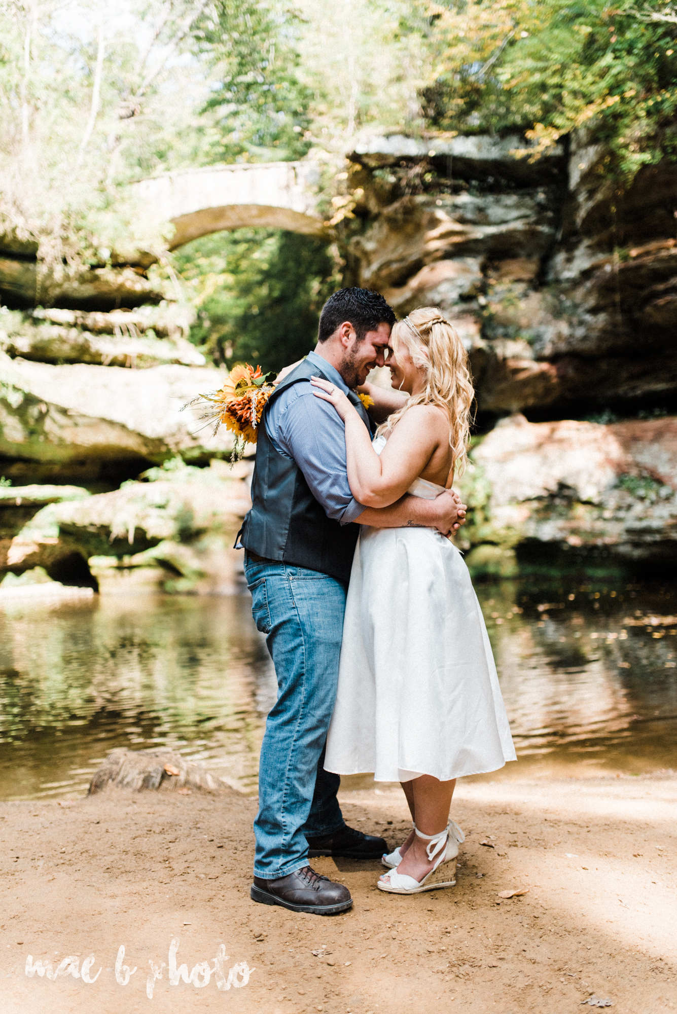 bobbi and pat's intimate fall cabin elopement in hocking hills old man's cave and rock house in logan ohio photographed by youngstown wedding photographer mae b photo-50.jpg
