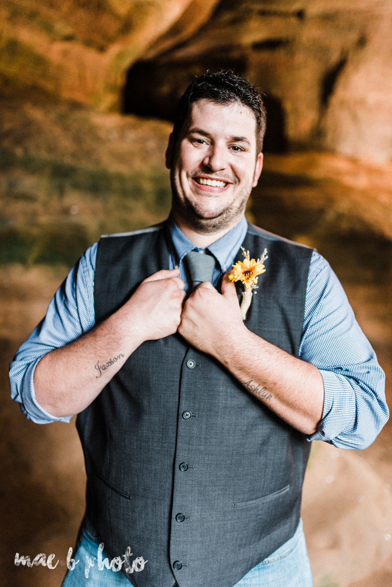 bobbi and pat's intimate fall cabin elopement in hocking hills old man's cave and rock house in logan ohio photographed by youngstown wedding photographer mae b photo-98.jpg