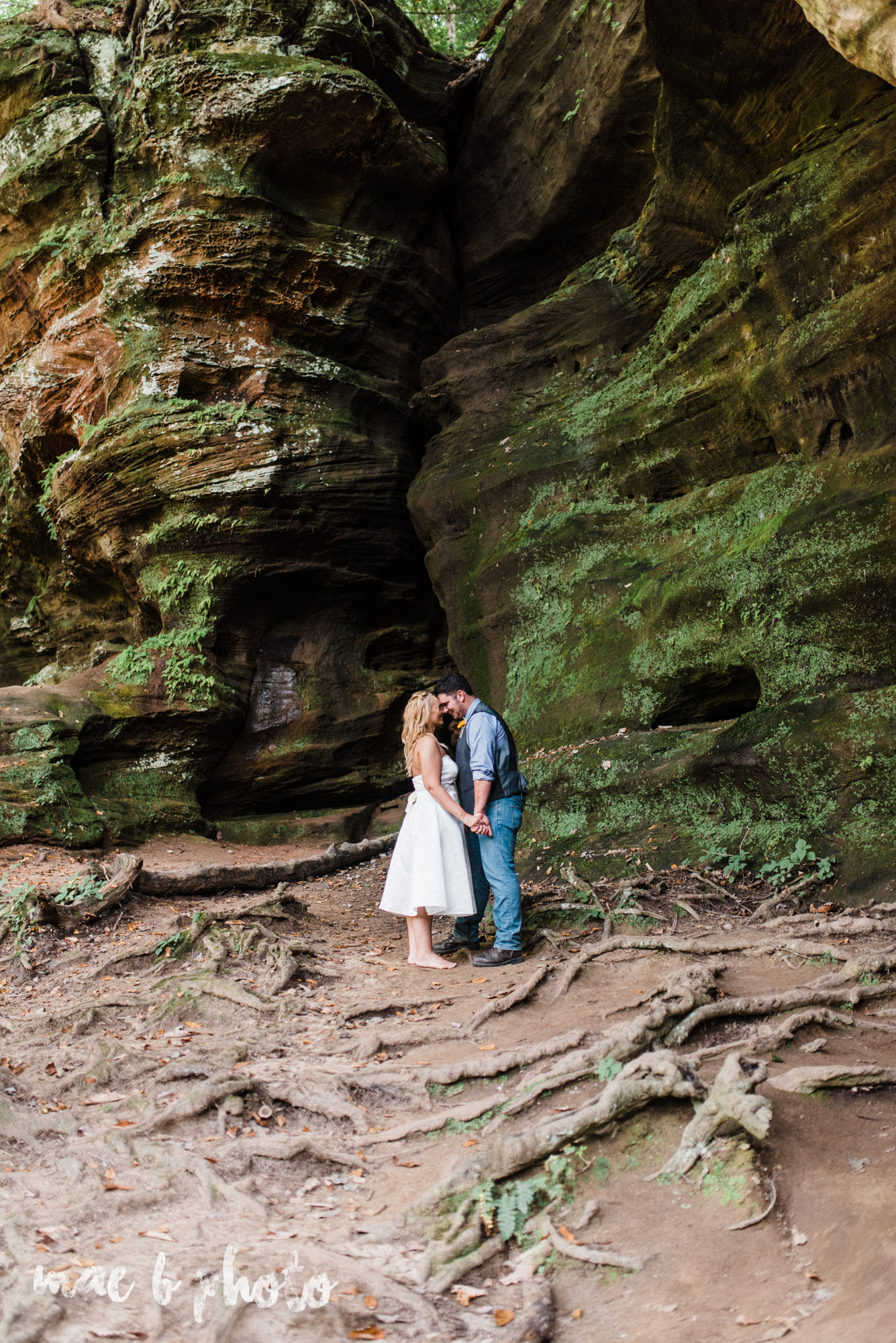 bobbi and pat's intimate fall cabin elopement in hocking hills old man's cave and rock house in logan ohio photographed by youngstown wedding photographer mae b photo-99.jpg