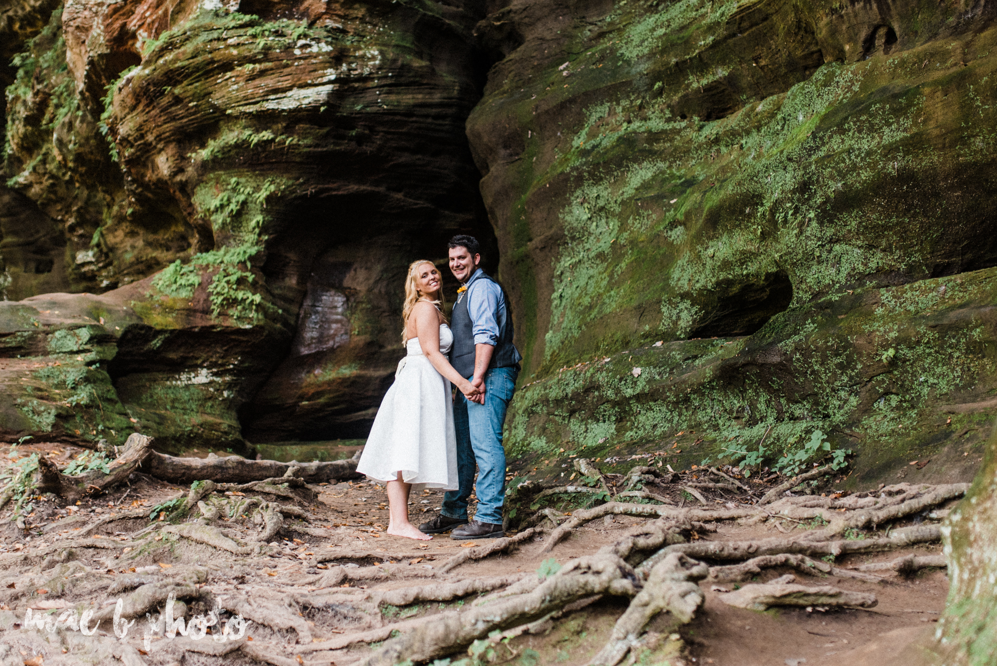 bobbi and pat's intimate fall cabin elopement in hocking hills old man's cave and rock house in logan ohio photographed by youngstown wedding photographer mae b photo-101.jpg