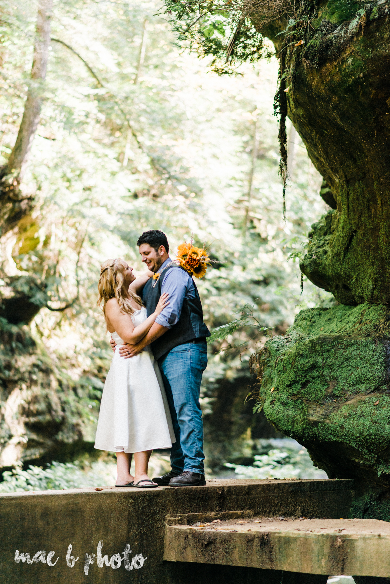 bobbi and pat's intimate fall cabin elopement in hocking hills old man's cave and rock house in logan ohio photographed by youngstown wedding photographer mae b photo-66.jpg
