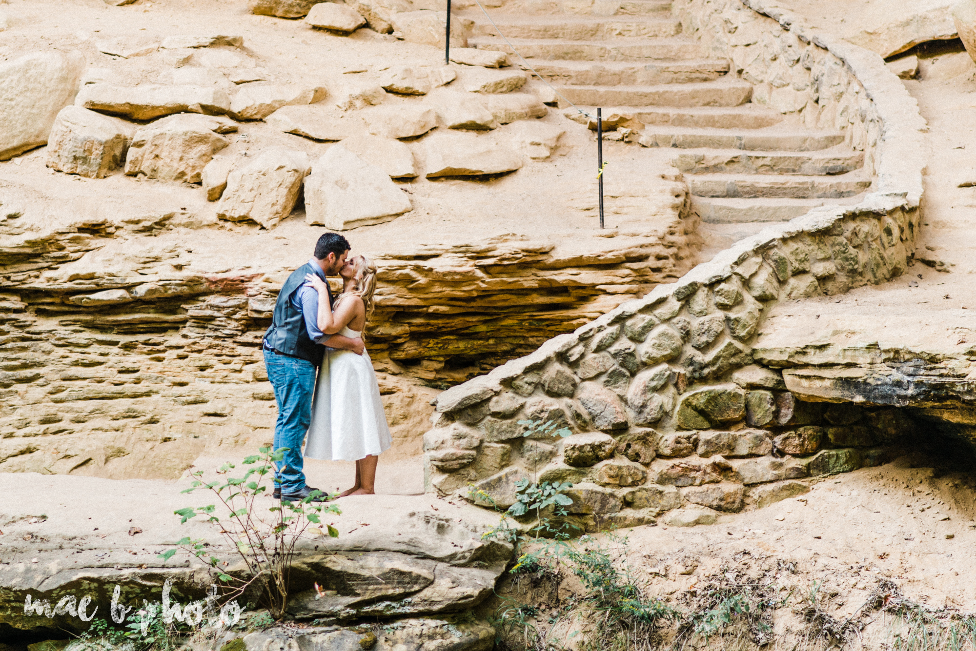 bobbi and pat's intimate fall cabin elopement in hocking hills old man's cave and rock house in logan ohio photographed by youngstown wedding photographer mae b photo-73.jpg