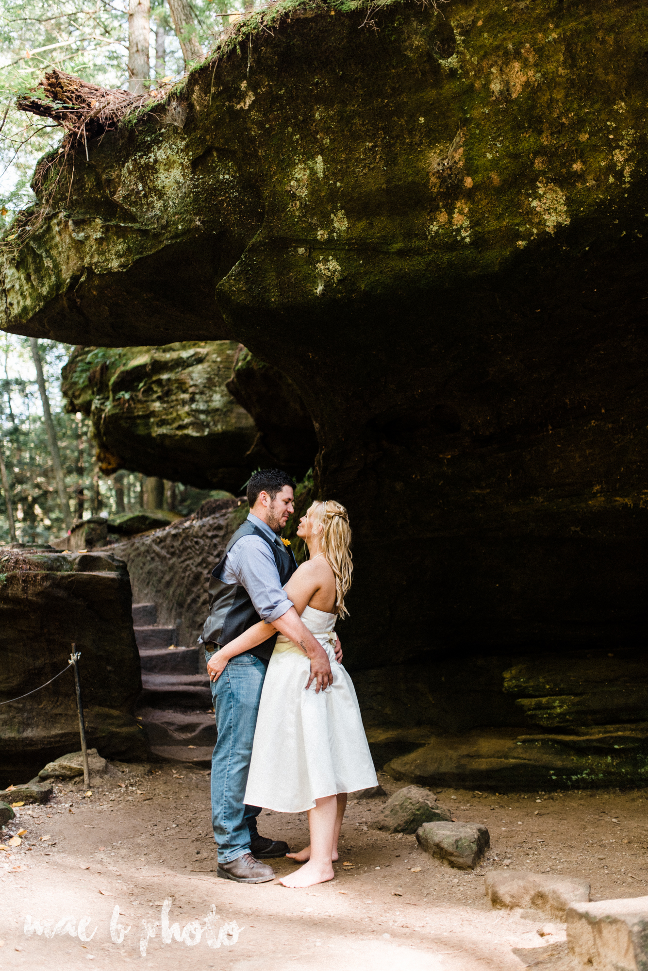 bobbi and pat's intimate fall cabin elopement in hocking hills old man's cave and rock house in logan ohio photographed by youngstown wedding photographer mae b photo-67.jpg