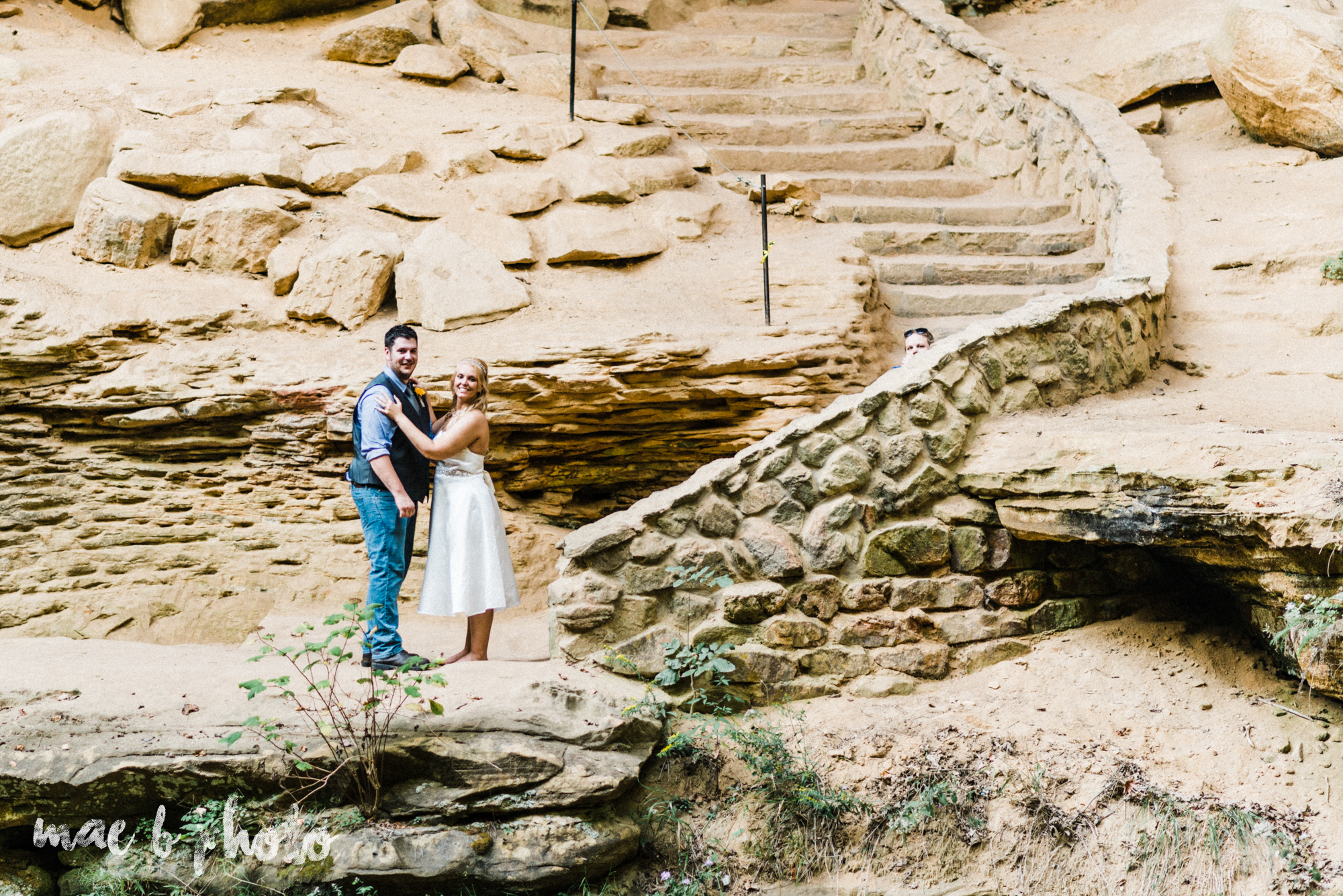 bobbi and pat's intimate fall cabin elopement in hocking hills old man's cave and rock house in logan ohio photographed by youngstown wedding photographer mae b photo-74.jpg