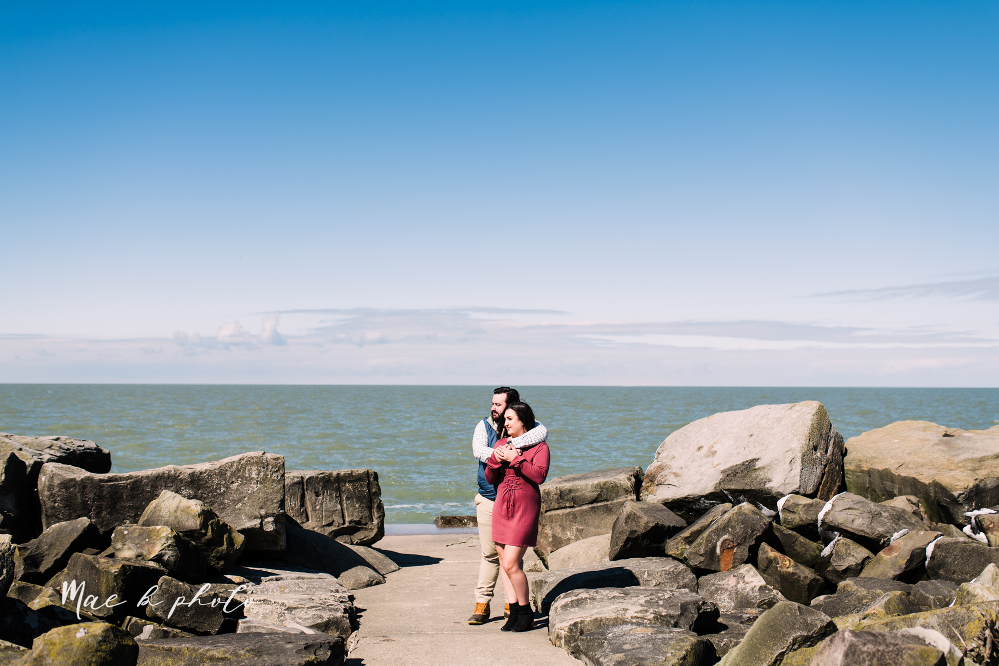 casey and matthew's personal winter cleveland engagement session at the clevelander and east fourth street and edgewater park in cleveland ohio photographed by youngstown wedding photographer mae b photo-34.jpg