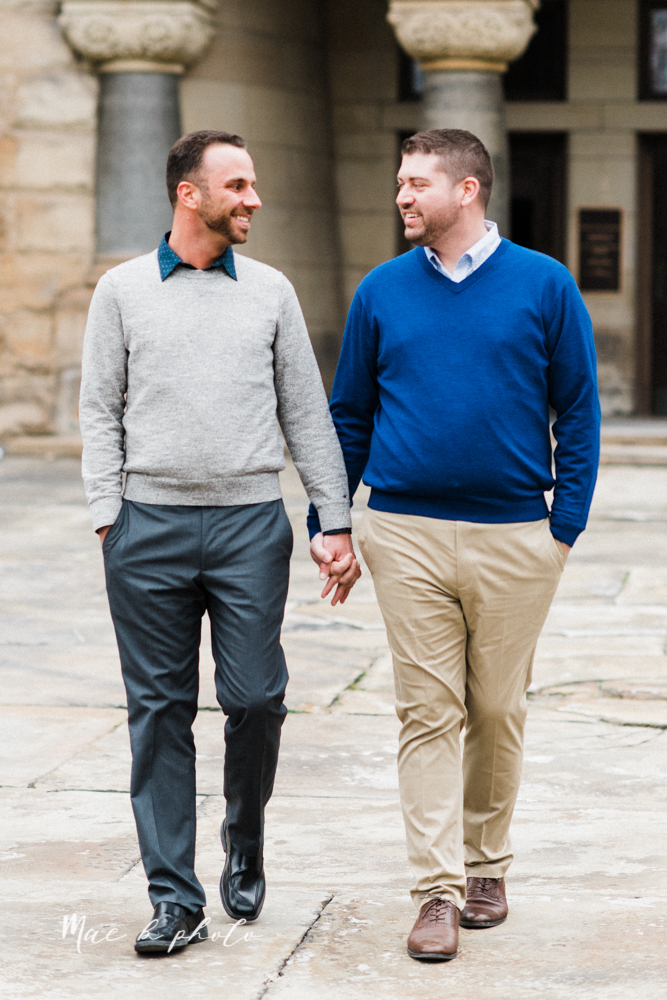 marcus and anthony's same sex winter lifestyle in home engagement session at the chase building in downtown warren ohio and at their home in niles ohio photographed by youngstown wedding photographer mae b photo-22.jpg