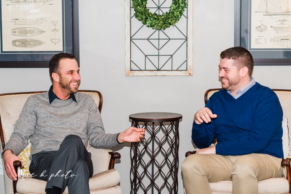 marcus and anthony's same sex winter lifestyle in home engagement session at the chase building in downtown warren ohio and at their home in niles ohio photographed by youngstown wedding photographer mae b photo-41.jpg