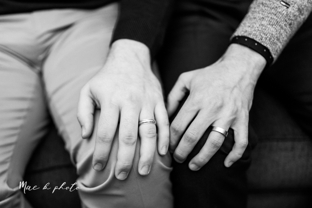 marcus and anthony's same sex winter lifestyle in home engagement session at the chase building in downtown warren ohio and at their home in niles ohio photographed by youngstown wedding photographer mae b photo-36.jpg