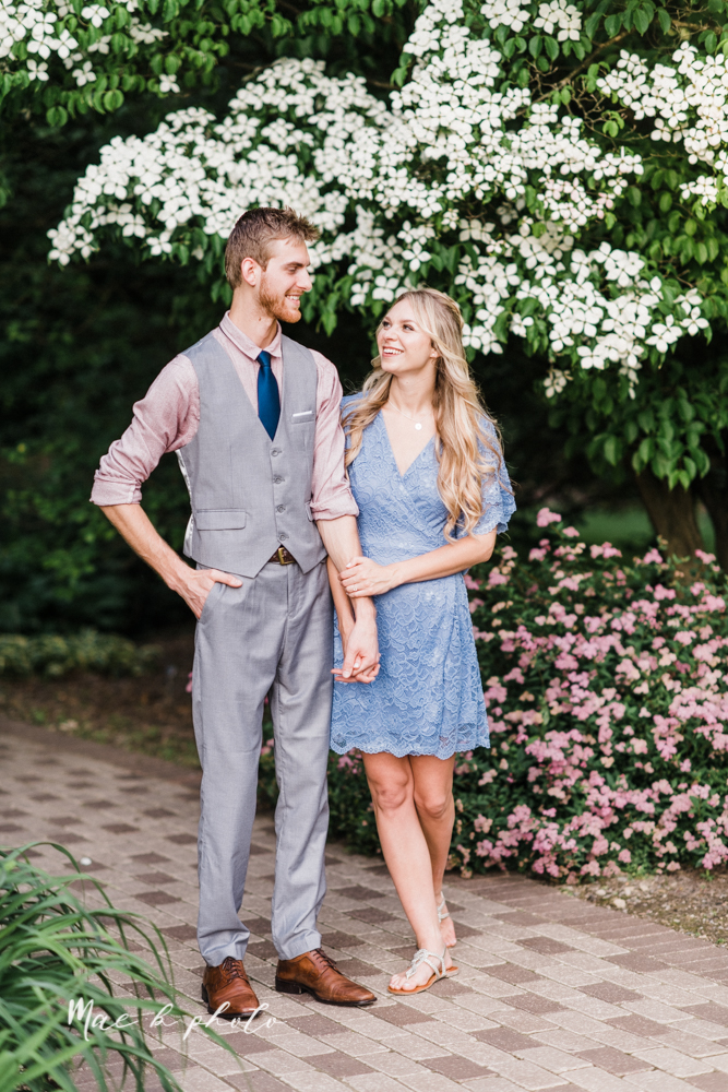 jessica and donny's woodsy adventurous summer engagement session at fellows riverside gardens (the rose gardens) and mill creek park at lantermin's mill in youngstown ohio photographed by youngstown wedding photographer mae b photo -22.jpg