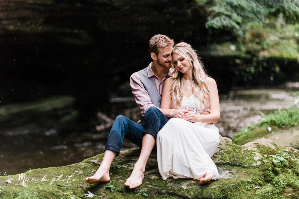 jessica and donny's woodsy adventurous summer engagement session at fellows riverside gardens (the rose gardens) and mill creek park at lantermin's mill in youngstown ohio photographed by youngstown wedding photographer mae b photo -40.jpg