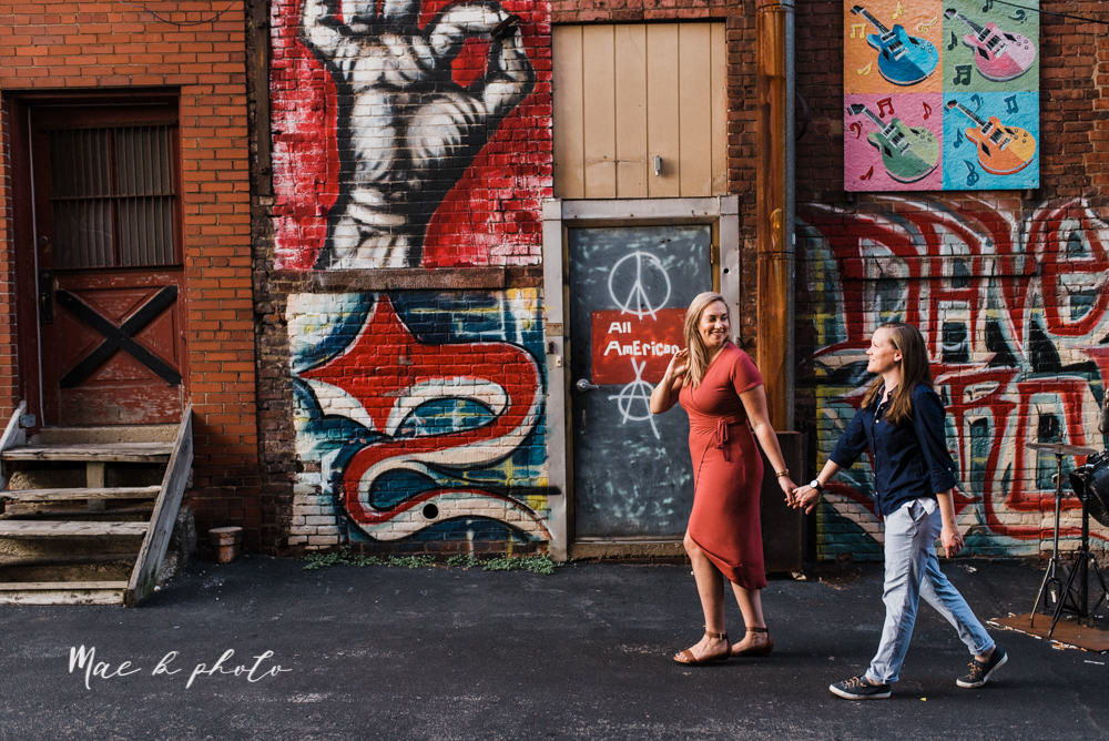 megan and angie's hometown summer engagement session in downtown warren ohio photographed by youngstown wedding photographer mae b photo-25.jpg