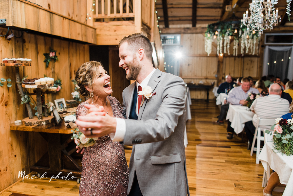 lauren and steve's romantic elegant sophisticated middle of the woods summer barn wedding at the grand barn event center in the mohicans in glenmont ohio photographed by youngstown wedding photographer mae b photo-164.jpg