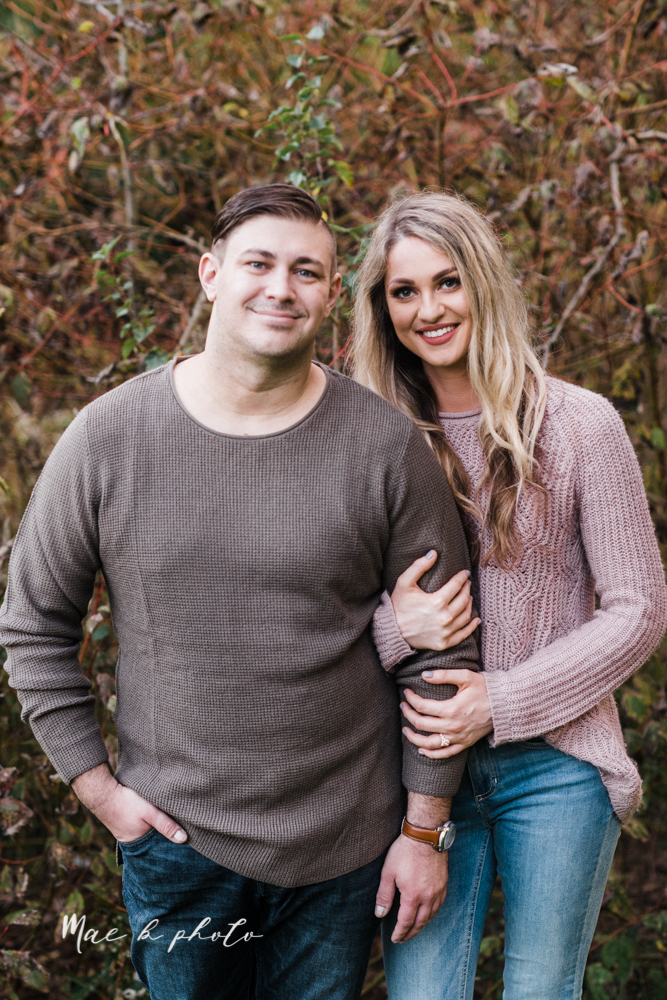 courtney and andy's vintage fall engagement session in mill creek park at pioneer pavilion and lake glacier in youngstown ohio photographed by youngstown wedding photographer mae b photo-40.jpg