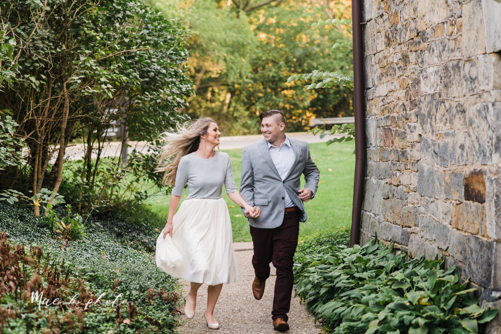 courtney and andy's vintage fall engagement session in mill creek park at pioneer pavilion and lake glacier in youngstown ohio photographed by youngstown wedding photographer mae b photo-18.jpg