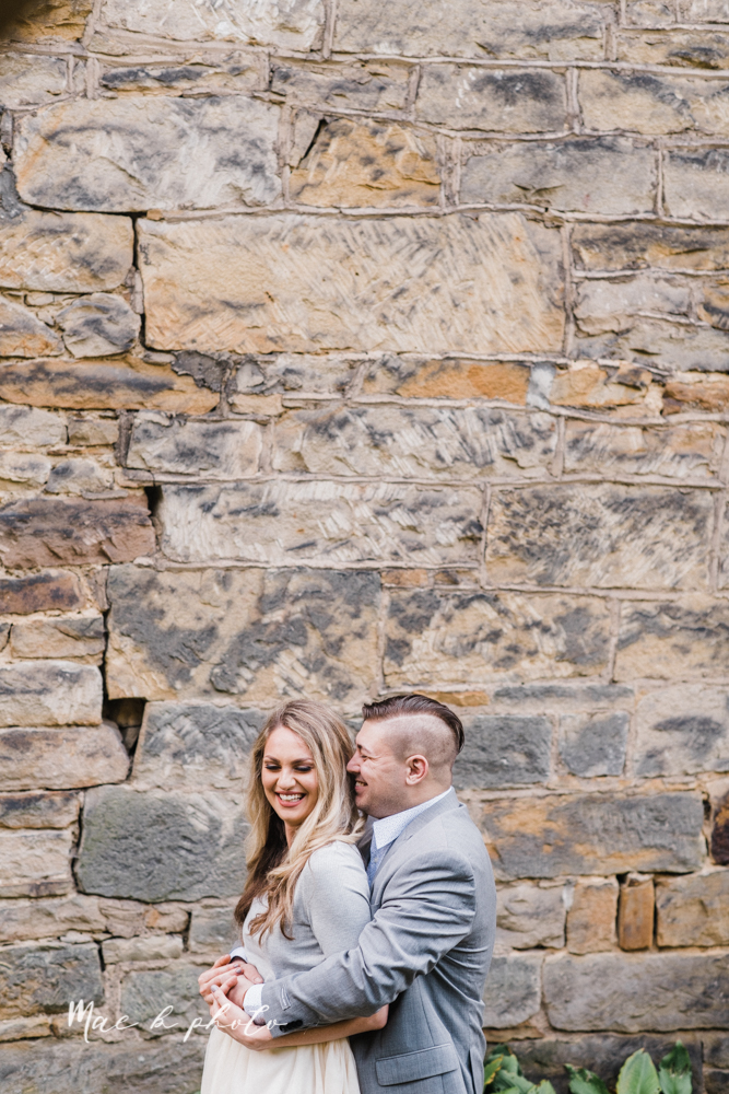 courtney and andy's vintage fall engagement session in mill creek park at pioneer pavilion and lake glacier in youngstown ohio photographed by youngstown wedding photographer mae b photo-24.jpg