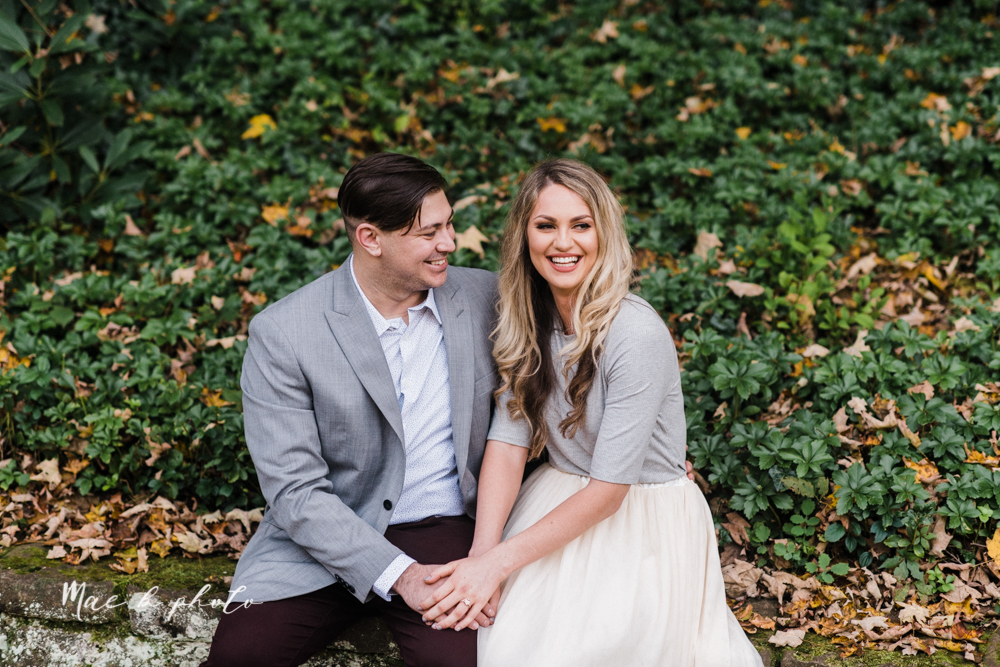 courtney and andy's vintage fall engagement session in mill creek park at pioneer pavilion and lake glacier in youngstown ohio photographed by youngstown wedding photographer mae b photo-13.jpg