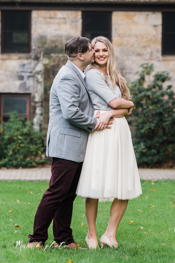 courtney and andy's vintage fall engagement session in mill creek park at pioneer pavilion and lake glacier in youngstown ohio photographed by youngstown wedding photographer mae b photo-33.jpg