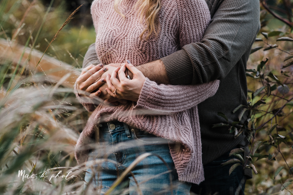 courtney and andy's vintage fall engagement session in mill creek park at pioneer pavilion and lake glacier in youngstown ohio photographed by youngstown wedding photographer mae b photo-37.jpg