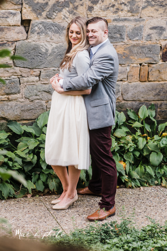 courtney and andy's vintage fall engagement session in mill creek park at pioneer pavilion and lake glacier in youngstown ohio photographed by youngstown wedding photographer mae b photo-23.jpg