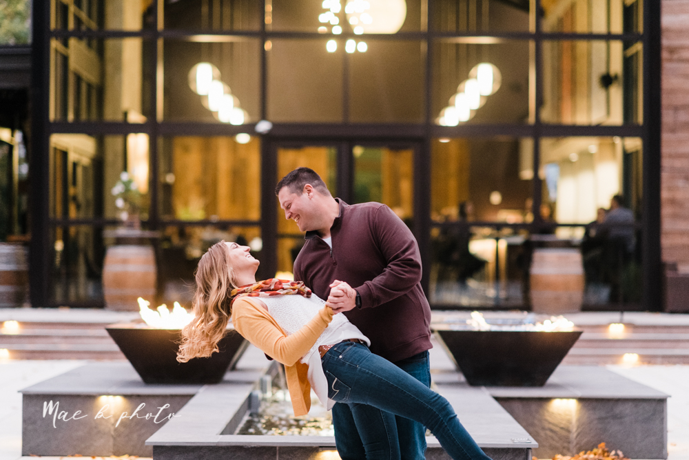 erin and shawn's fall Cleveland winery engagement session at sapphire creek winery photographed by youngstown wedding photographer mae b photo-49.jpg