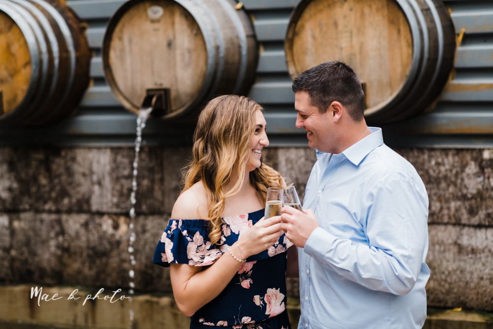 erin and shawn's fall Cleveland winery engagement session at sapphire creek winery photographed by youngstown wedding photographer mae b photo-6.jpg