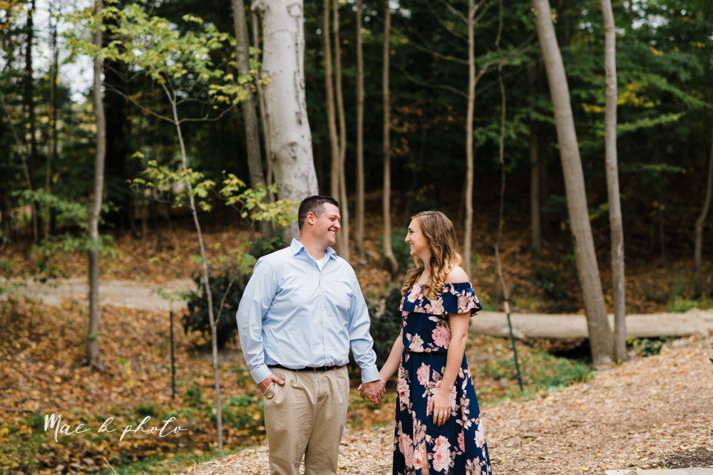 erin and shawn's fall Cleveland winery engagement session at sapphire creek winery photographed by youngstown wedding photographer mae b photo-18.jpg
